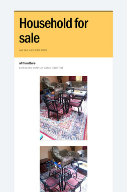 Household for sale