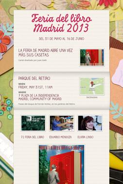 Feria del libro Madrid  2013