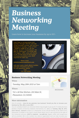 Business Networking Meeting