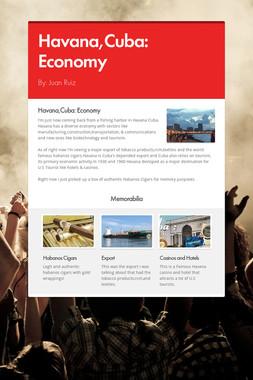 Havana,Cuba: Economy