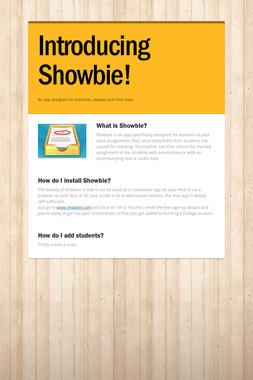 Introducing Showbie!