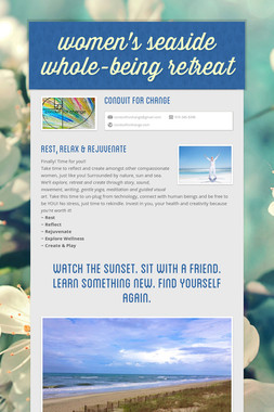 women's seaside whole-being retreat