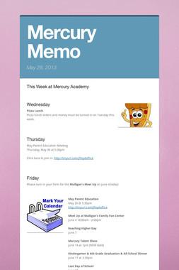 Mercury Memo