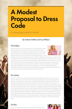 A Modest Proposal to Dress Code