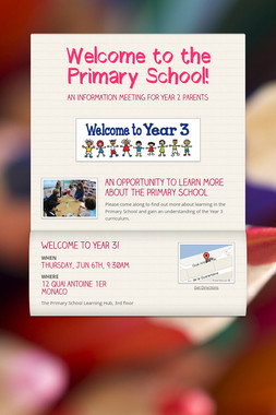 Welcome to the Primary School!