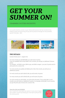 GET YOUR SUMMER ON!