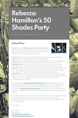Rebecca Hamilton's 50 Shades Party
