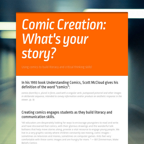 Comic Creation: What's your story?