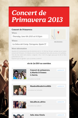 Concert de Primavera 2013