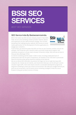 BSSI SEO SERVICES