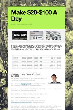 Make $20-$100 A Day