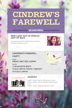 Cindrew's Farewell