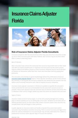 Insurance Claims Adjuster Florida