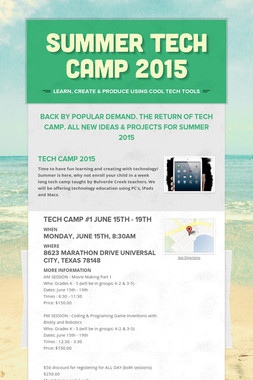 SUMMER TECH CAMP 2015