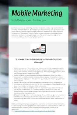 Mobile Marketing