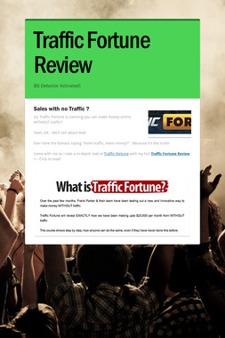 Traffic Fortune  Review