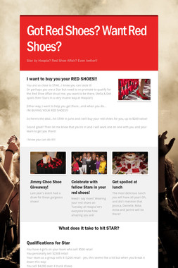 Got Red Shoes? Want Red Shoes?