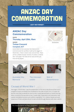 ANZAC Day Commemoration