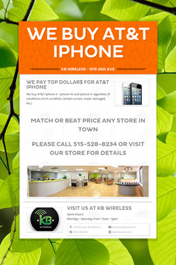 We Buy AT&T Iphone
