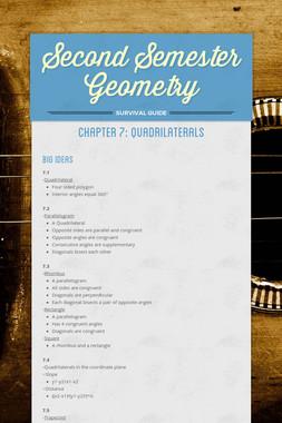 Second Semester Geometry