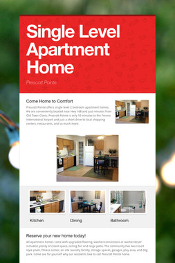 Single Level Apartment Home