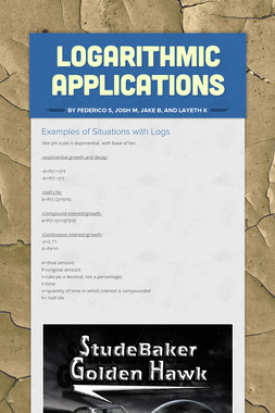 Logarithmic Applications