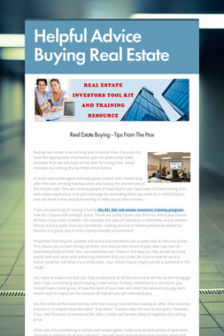 Helpful Advice Buying Real Estate