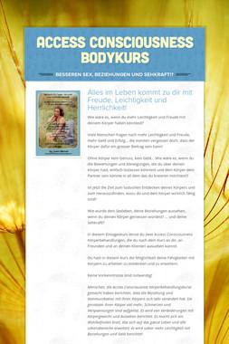 Access Consciousness Bodykurs