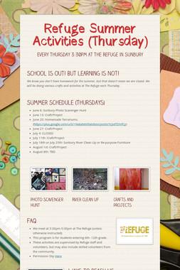 Refuge Summer Activities (Thursday)