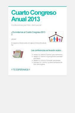 Cuarto Congreso Anual 2013
