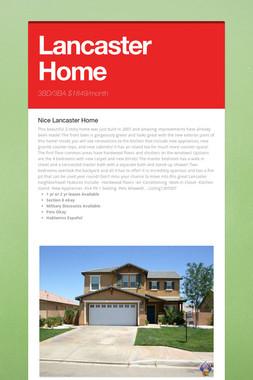 Lancaster Home