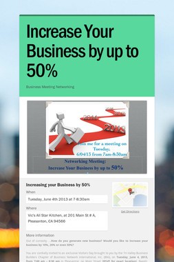 Increase Your Business by up to 50%