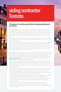 siding contractor Toronto