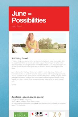 June = Possibilities
