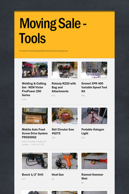 Moving Sale - Tools