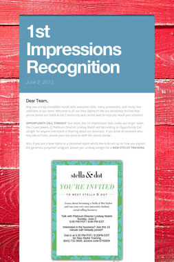 1st Impressions Recognition