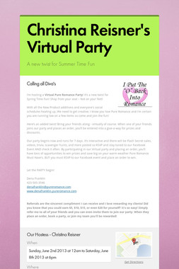 Christina Reisner's Virtual Party
