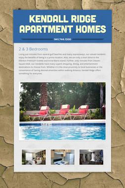 Kendall Ridge Apartment Homes