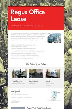 Regus Office Lease