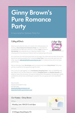 Ginny Brown's Pure Romance Party