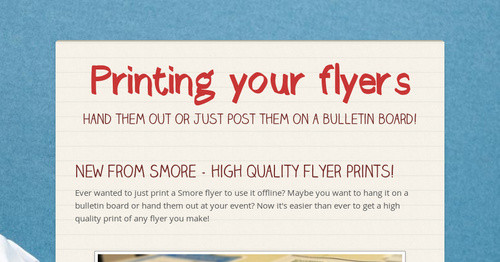 printing your flyers smore newsletters for education