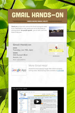 Gmail Hands-on