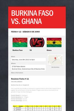 BURKINA FASO VS. GHANA