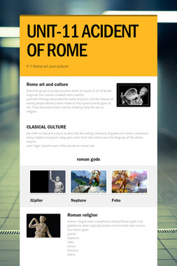 UNIT-11 ACIDENT OF ROME