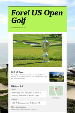 Fore! US Open Golf