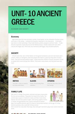 UNIT- 10 ANCIENT GREECE