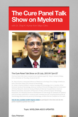 The Cure Panel Talk Show on Myeloma