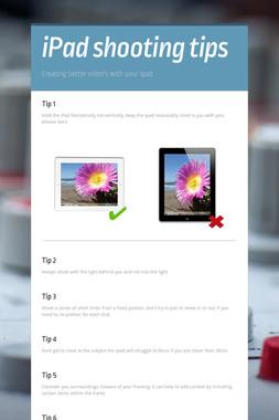 iPad shooting tips