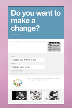 Do you want to make a change?