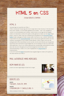 HTML 5 en CSS